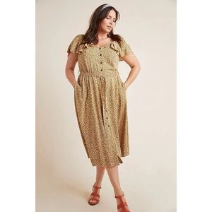 EUC Anthropologie Bolano Leopard Print Dress 18